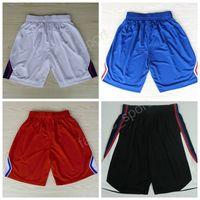 Wholesale High Waist Pants Cheap - Los Angeles 34 Paul Pierce Basketball Shorts Men 3 Chris Paul Sport Pant Red Blue White Black Team Color Cheap Running Short High Quality