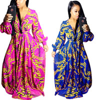 Wholesale 2017 Summer Traditional African Clothing Women Africaine Print Dashiki Dress African Clothes indian bazin riche femme