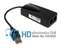 Wholesale Modem Phones - USB Fax Modem External 56K Data V9.0 2ports for Win7 Ethernet Phone