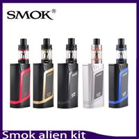Wholesale Baby Starter Kits - SMOK Alien Starter Kit 220W ALIEN Box MOD & 3ml TFV8 Baby Tank with 0.4ohm 0.15ohm Core Smok Alien Kit 0268047