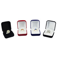 Wholesale display block - Wholesale 6Pcs Jewelry Display Box Red Black Blue Blocked Ring Jewelry Organizer Box Ring Package Storage Gift Box 5*5.8*3.5CM