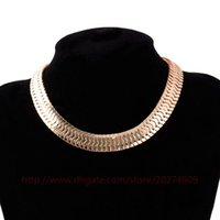 Купить Змеиный Змеевик-2 цвета Club Party Style Snake Chain Necklace Alloy Serpentine Collar Choker Fashion Jewelry Gift Wholesale