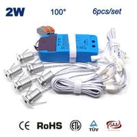 Wholesale Downlight Set - Wholesale- 6PCS Set + Driver + Cables 2W 180Lm 80Ra Home New Fashion Decoration Dimmable Downlight 15mm Mini Led Spot Light