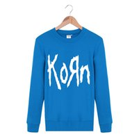 Wholesale Cheap Men S Winter Clothes - Wholesale- Cheap New 2016 Winter Clothing Korn Rock Band Printed Outerwear Black Sweatshirts Hip Hop Men Sportswear Cotton Knitted Pullover