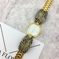 Wholesale Leopard Fashion Jewelry - Luxurry Women watches Leopard Golden Color Belt Stainless steel Female Wristwatch Dress watches Lady Quartz Free shipping Gifts Accessories
