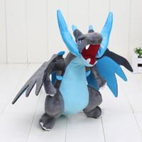 juguetes de peluche de calidad al por mayor-Nuevo 25cm CENTER Plush Doll Mega Charizard X Y pikachu juguetes de peluche Buena Calidad 10