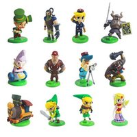 pvc 12 pcs al por mayor-4 cm The Legend of Zelda PVC figuras de acción niños juguetes modelo muñeca juguete 12 pcs / set