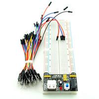 Wholesale Power Line Module - Ivolador MB102 senior breadboard + power module +65 bread line DIY special kit