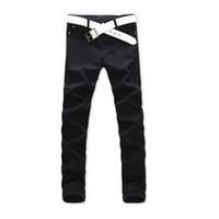 Wholesale Cool Jeans Trousers - Wholesale-Cool Stylish Men Jeans Pencil Pants Fashion Designed Casual Straight Slim Fit Trousers 2 Colors