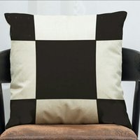 Wholesale Orange Sofa Cushion Covers - 2018 hot seller brand new plaid pillow case Home Sofa Throw cushion orange wool cashmere pillow covers