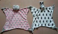 Wholesale Kids Sleeping Mats Wholesale - Wholesale- 46*36cm Cartoon Animals Rabbit Cat Baby Multi-Fuction Saliva Towel Play Mat Biting Calm Sleeping Dolls Kids Toys