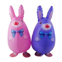 Wholesale Wedding Decorations Rabbit - Animal Walking Balloon Walk Rabbit Inflatable Decoration Decorative Party Supplies Gift Favor Pet Kid Toy Christmas Wedding Aluminum Foil