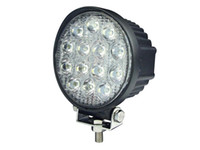 Wholesale Truck Prices - Car accessories round 42w led work light for truck, good waterproof auto parts 42w factory price drive light led spotlight 4x4