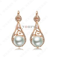 Wholesale Authentic Pearl Earrings - Yoursfs High Quality Pearl Earrings For Women Lady Female Drop Earrings Authentic Jewelry Gifts E278R1
