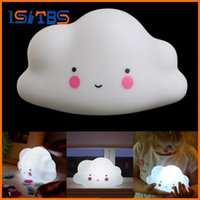 Lovely Cloud Smile Face Mini Night Light Crianças Quarto LED Art Deco Lâmpada Bulb Decor New 2017