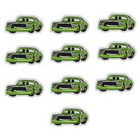 parches deportivos al por mayor-10 UNIDS parches de bordado de coche deportivo verde para ropa parche de hierro para apliques de costura accesorios pegatinas en la ropa de hierro en parche