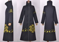 Wholesale one piece law costumes resale online - ONE PIECE Trafalgar Law coat cosplay