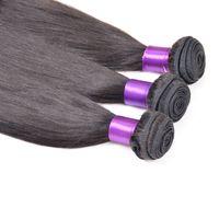 marcas de cabelo virgem não processadas venda por atacado-Não Transformados Cabelo Virgem Malaio 10 Pacotes de Extensões de Cabelo 100% Em Linha Reta Weave Marcas Diva Cabelo Frete Grátis