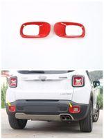 luzes traseiras jeep venda por atacado-2 * Trims quadro de carro Rear Fog tampa da luz para Jeep Renegade 2015-2016 ABS
