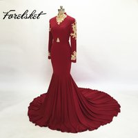 2017 Fashion Women Wine Red Prom Dress Sexy Appliques in oro sudafricano Borgogna Long Formal Evening Party Gown Custom Made Plus Size