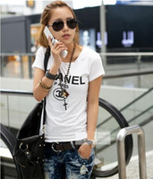 Wholesale cute summer tops for women - New Print Women T Shirt 2018 Fashion Summer New Slim Fit Cute Cartoon T-Shirt Femme Tee Shirt Harajuku Tops For Lady