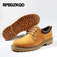 Wholesale High Elevator Shoes Men - Real Leather Genuine Yellow China Elevator Casual High Heel Large Size Hidden Height Increasing Shoes Men Brown Tan Lace Up Work