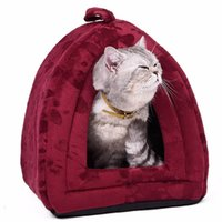 Cat Bed Small Dog House Été Soft Puppy Kennel Lovely Kitten Mats Animaux pour animaux domestiques Maison Cute Animal House