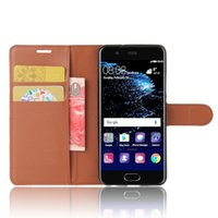 Wholesale Litchi Phone Case - For Huawei P10 Wallet Litchi Leather Soft TPU Phone Cover Case Card Slots Holder Pocket Pouch Flip Stand For Huawei P10 plus Nova