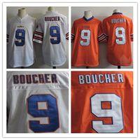 Wholesale Movie Filmed - cheap Mens The Waterboy Movie Adam Sandler #9 Bobby Boucher Orange White Stitched The film Football Jerseys Size S-3XL