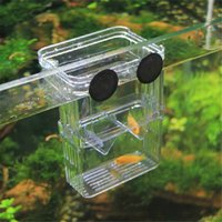 Wholesale Hatching Fish - Size L High Clear Fish Breeding Box Aquarium Breeder Box Double Guppies Hatching Incubator Isolation(New Acrylic)