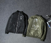 Wholesale Wind Jacket Cheap - RIPNDIP kanye west spring jacket hip hop cartoon refers to cheap cat couples women windbreaker Harajuku wind coat baseball air force one