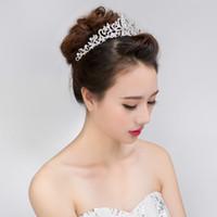 Women Married Tiara Crown Headband Crystal Diamond Hair Jewelry Bride Wedding Crown Best Selling Hair Accessories Headpieces Headdress