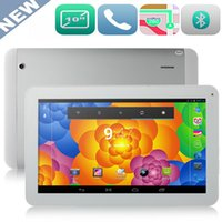 Wholesale Built 3g Cortex A9 - 10 inch Cortex-A9 1024*800 built-in 3G WIFI GPS WCDMA Blutooth 3G QUAD Core Tablet PC IPS Screen