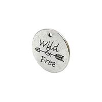 colar de seta diy venda por atacado-Atacado- 15pcs Antique Silver Plated Wild Free Arrow Encantos Pingentes para Pulseira Jewelry Making Colar DIY Craft 25x25mm