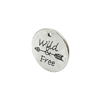 Wholesale Antique Coin Jewelry - Wholesale- 15pcs Antique Silver Plated Wild Free Arrow Charms Pendants for Bracelet Jewelry Making DIY Necklace Craft 25x25mm