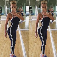 Wholesale NEW Arrivals Women Sleeveless Fitness Jumpsuit Slimming Skinny Bodysuits Playsuits Hot