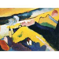 кандинский пейзаж оптовых-Высокое качество современных картин Василия Кандинского горный пейзаж с церковью маслом на холсте ручная роспись домашнего декора