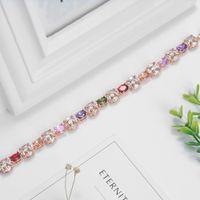 Wholesale European Key Ring Chain - European fashion Return-shape bracelet inlay Egg shaped crystal Size: 195*10. 14K Gold Low-key luxury