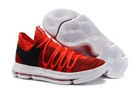 Wholesale Kd Shoes Low Cheap - Cheap KD 10 University Red Mens Basketball Shoes Men 2017 New KD10 Warriors X Home Kevin Durant Sports Sneakers With Shoes Box