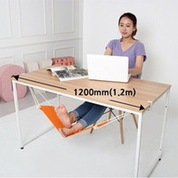 Wholesale Indoors Hammock - Wholesale- Portable Mini Office Foot Rest Stand Desk Feet Hammock Easy to Disassemble Home Study Library Comfortable Outdoor Indoor