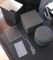 relógios de luxo venda por atacado-luxo novo rodada caixa de couro preto para tag heuer relógios booklet cartão tags e papéis em inglês TT