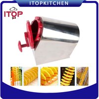 Wholesale Potato Cutter Stainless - Fast Delivery! Stainless Steel 3 in 1 Manual Twisted Potato Cutter,High Quality Spiral Potato Slicer, French Fry Cutting Machine
