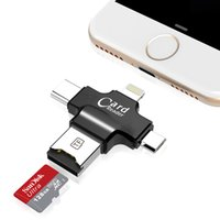 Wholesale Iphone External Drive - 4 in 1 iFlash Drive USB 2.0 Micro SD TF OTG Card Reader for iPhone 7 samsung s7 s6 type c pc