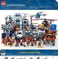 Wholesale Diy Blocks Pcs - 2017 Enlighten 951 Pcs City Series Mobile Police Station 1918 Building Blocks Education DIY Assemble Brick Kid Toys Gift Collection