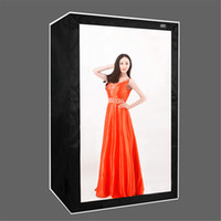 Wholesale photos studio resale online - 120 cm DEEP LED Professional Portable Photography Softbox LED Photo Studio Video Light Box with LED Lights for Cloth Model Big Items