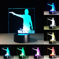Wholesale Change Tables - The Walking Dead 3D LED Table Lamp Touch Colorful 7 Color Change Acrylic Night Light Home Party Decorative Lamp Gifts