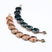 Wholesale Id State - Europe and the United States fashion big jewelry retro trend elegant temperament transparent geometric box bracelet