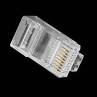 Wholesale Brand New Crystal Head RJ45 CAT5 CAT5E Modular Plug Gold Plated Network Connector