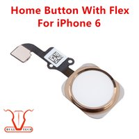 Wholesale Wholesale Gold Ribbon - Home Button Ribbon Flex Cable Silver Gold Black Main Menu Key Complete Full Assembly For iPhone 6 6G 4.7inch 4.7""