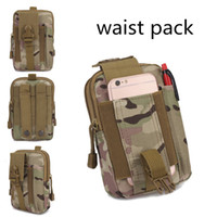 Wholesale Military Cosplay - Teenager Boys & Girls' CS Military Waist Pack Adult Phone Pocket Men & Women's Outdoor Sports Cosplay Army Camouflage Bags Multicolors